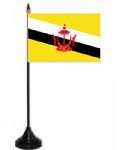 Brunei Desk / Table Flag with plastic stand and base.